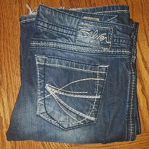 Silver brand denim jeans size 28 twisted bootcut